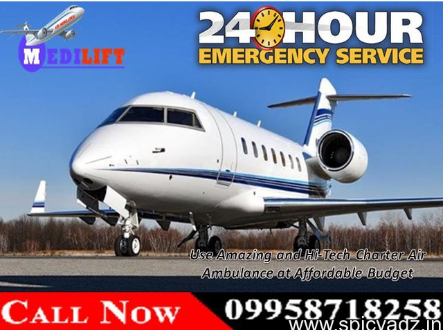 Highly Developed Emergency Air Ambulance Services in Patna at Low Fare - 1