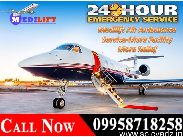 Get Reasonable Fare Air Ambulance Services in Guwahati by Medilift Ambulance - 1