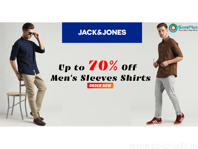 JACK & JONES Coupons, Deals, sales , and Codes: Up to 70% Off Men's Sleeves Shirts - 1