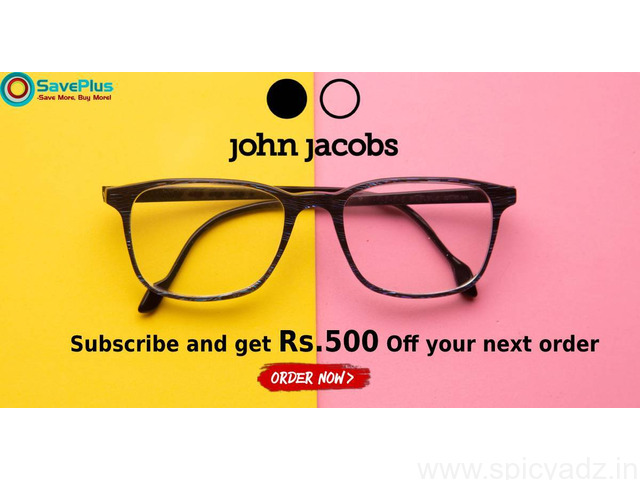 John Jacobs Eyewear Coupons, Deals & Offers: Men's Eyeglasses from Rs.1500 - 1