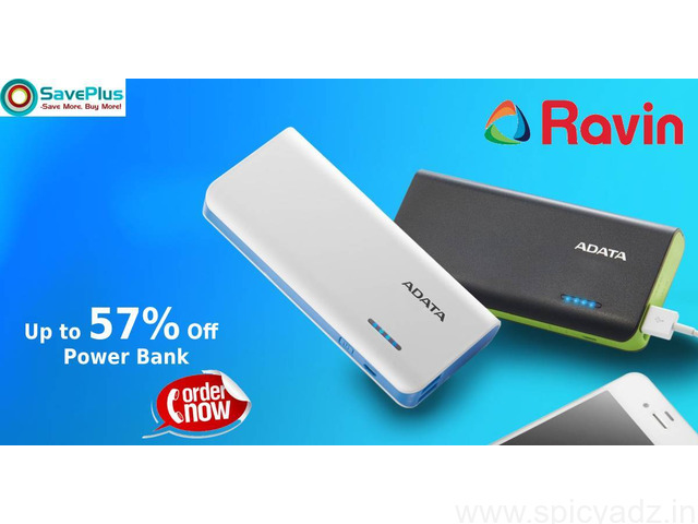 Ravin Coupons, Deals & Offers: Up to 57% Off Power Bank-Feb 2021 - 1