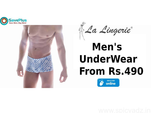 La Lingerie Coupons, Deals & Offers: Men's Underwear from Rs.490 - 1