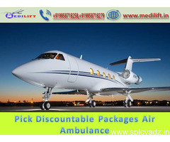 Immediate Patient Transfer Air Ambulance Service in Kolkata