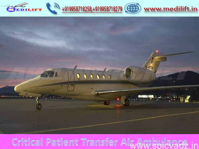 Get Any Time Medilift Air Ambulance Service in Guwahati - 1