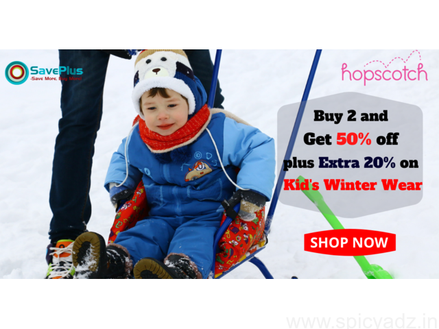 Hopscotch Coupons, Deals & Offers: Buy 2 and Get 50% off plus Extra 20% on Kid's Winter Wear - 1