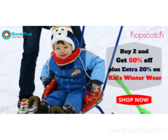 Hopscotch Coupons, Deals & Offers: Buy 2 and Get 50% off plus Extra 20% on Kid's Winter Wear