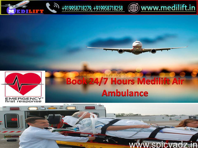 Full Life-Support Charter Aircraft in Delhi by Medilift with Doctor - 1