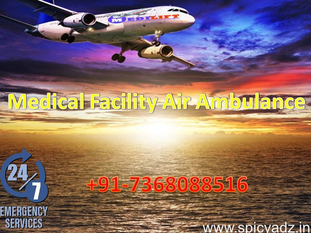 Now Get Supreme Air Ambulance Service in Ranchi by Medilift - 1