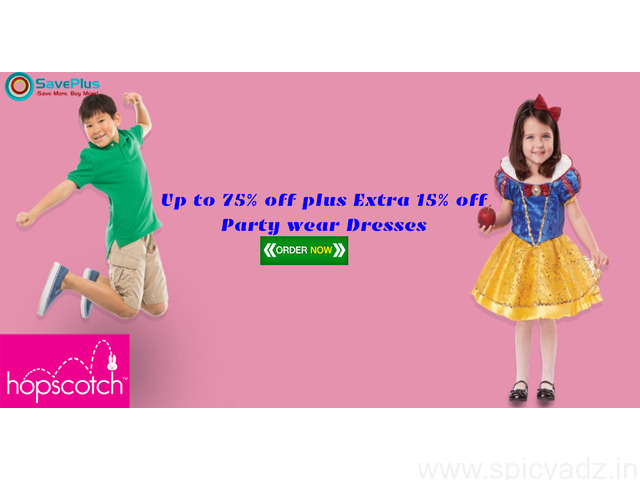 Hopscotch Coupons, Deals, sales , and Codes: Up to 75% off plus Extra 15% off Party wear Dresses - 1