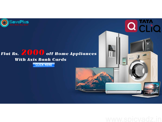 Tatacliq Coupons, Deals, sales , and Codes: Flat Rs.2000 off Home Appliances with Axis Bank Cards - 1