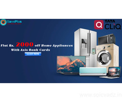 Tatacliq Coupons, Deals, sales , and Codes: Flat Rs.2000 off Home Appliances with Axis Bank Cards