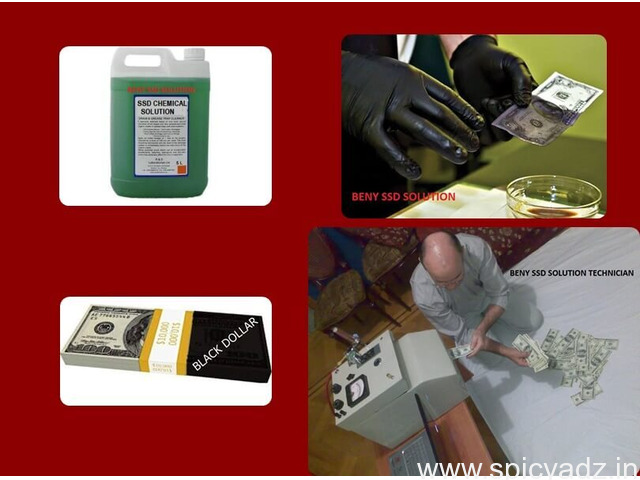 BLACK MONEY CLEANING  WITH SSD SOLUTION CHEMICAL - 1