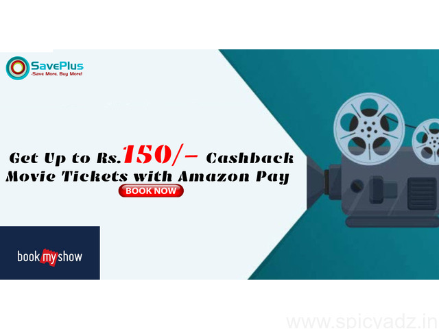 Bookmy Show Coupons, Deals, Sales, and Codes: Get Up to Rs.150/- Cashback Movie Tickets with Amazon - 1