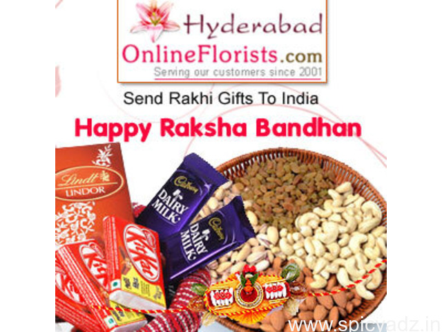 Order colourful Rakhis & Gifts at Cheap Price & get Same Day Delivery to Hyderabad - 1