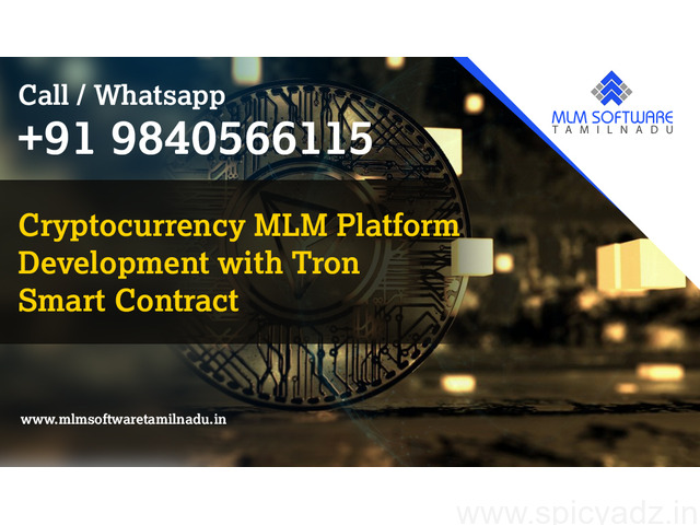 Cryptocurrency MLM Platform Development with Tron Smart Contract – MLM Software Tamilnadu - 1