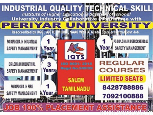 Diploma Industrial Safety Management  course in Tamilnadu - 1