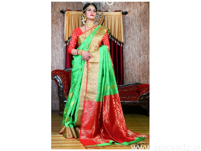 Contemporary and Stylish PC brand sarees online with express shipping worldwide - 1