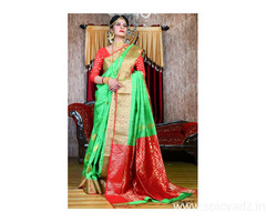 Contemporary and Stylish PC brand sarees online with express shipping worldwide