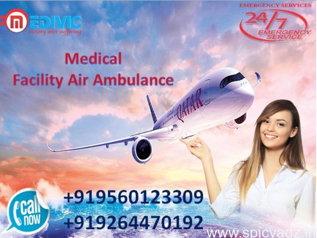 Pick Reliable Air Ambulance in Bhopal-at Low-Cost by Medivic - 1