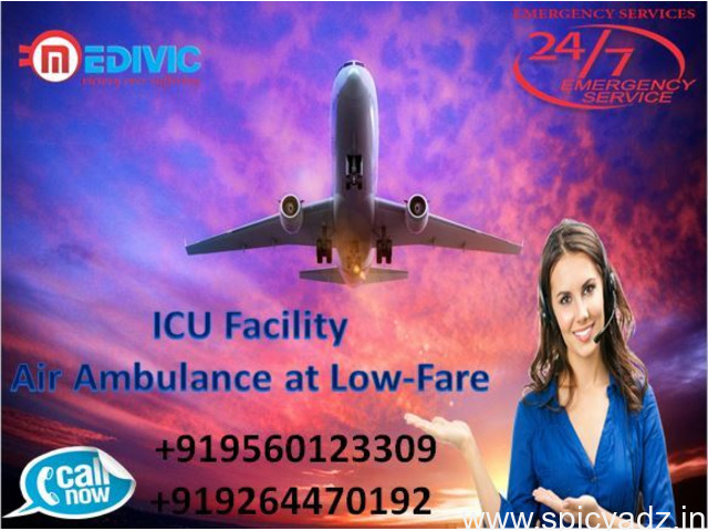 Superior Air Ambulance in Varanasi with Doctor Facility by Medivic - 1
