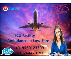 Superior Air Ambulance in Varanasi with Doctor Facility by Medivic