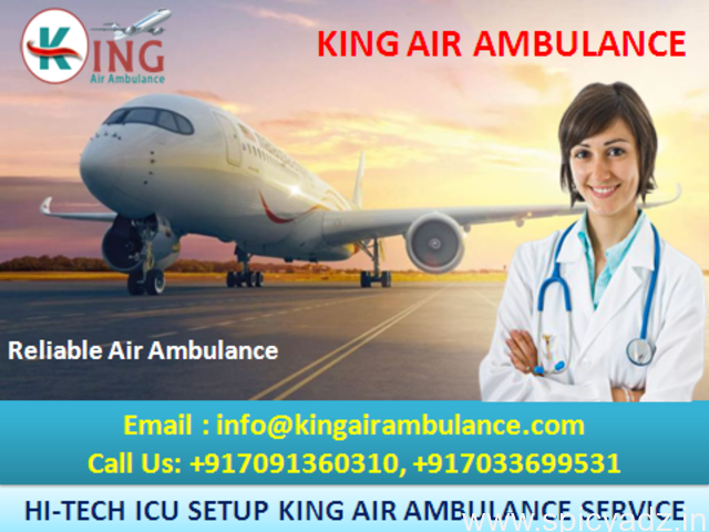 Best ICU Services by King Air Ambulance in Guwahati for Relocation - 1