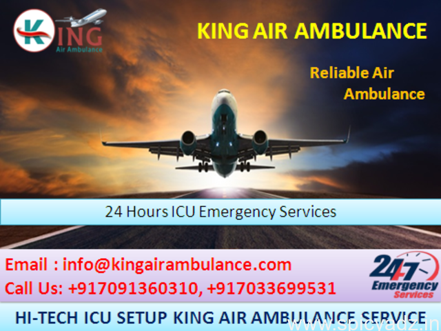 Choose ICU King Air Ambulance Services in Dibrugarh to Quick Relocation - 1