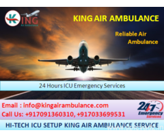 Choose ICU King Air Ambulance Services in Dibrugarh to Quick Relocation