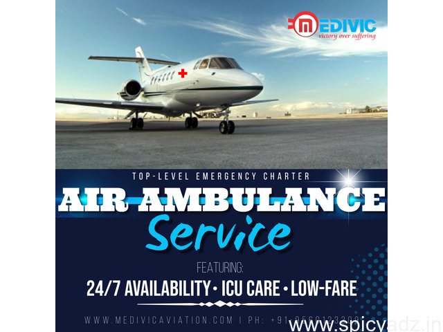 Prime ICU Commercial Air Ambulance Services in Jamshedpur by Medivic - 1