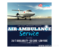 Prime ICU Commercial Air Ambulance Services in Jamshedpur by Medivic