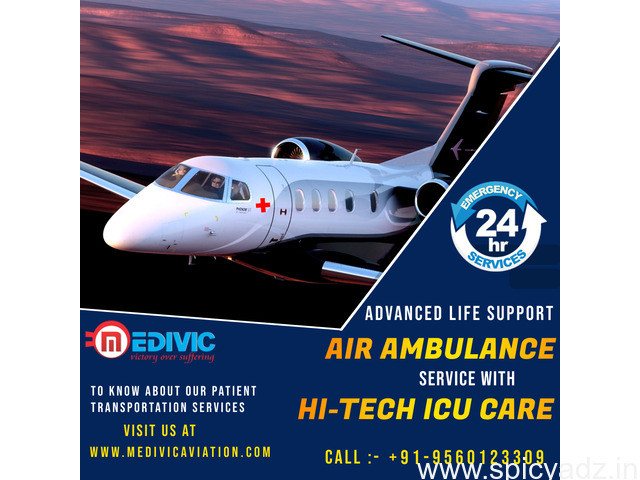 Ultimate Emergency ICU Air Ambulance Services in Ranchi by Medivic - 1
