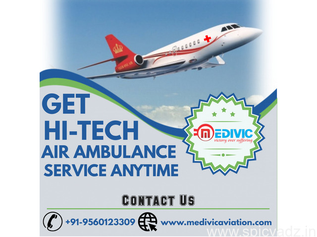 Hire Instant Medivic Air Ambulance Service in Guwahati at Low-Cost - 1