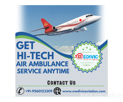 Hire Instant Medivic Air Ambulance Service in Guwahati at Low-Cost