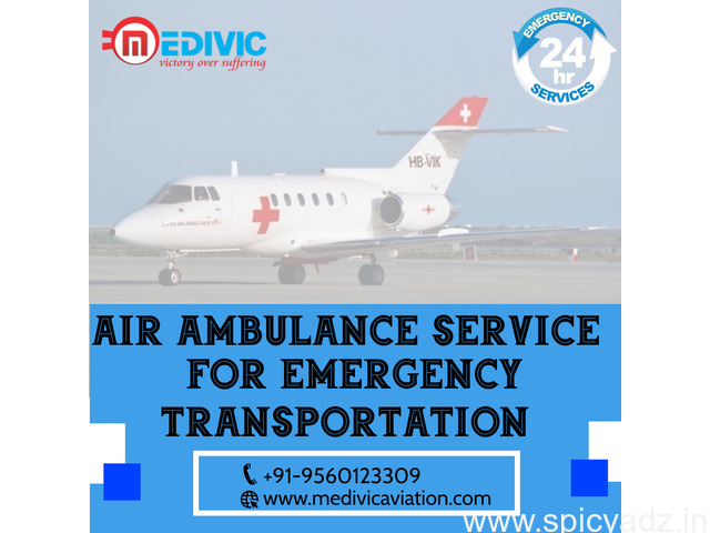 Use Superlative Air Ambulance Service in Patna with ICU by Medivic - 1