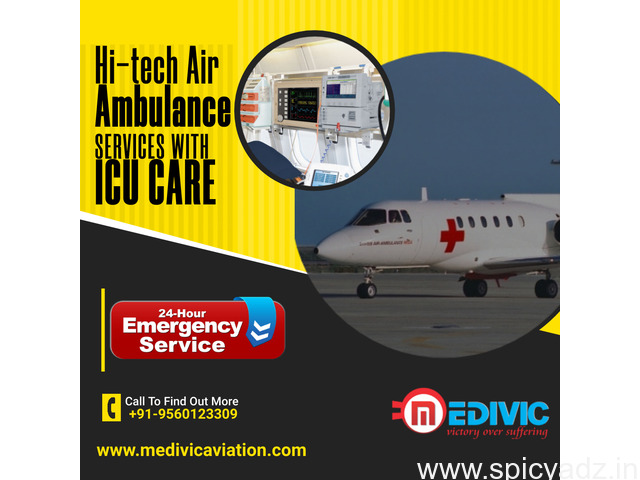 Take the Best Medivic Air Ambulance Service in Patna with Latest Medical Tools - 1