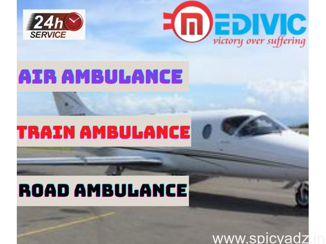 Book the Exceptional Air Ambulance in Allahabad with ICU by Medivic - 1