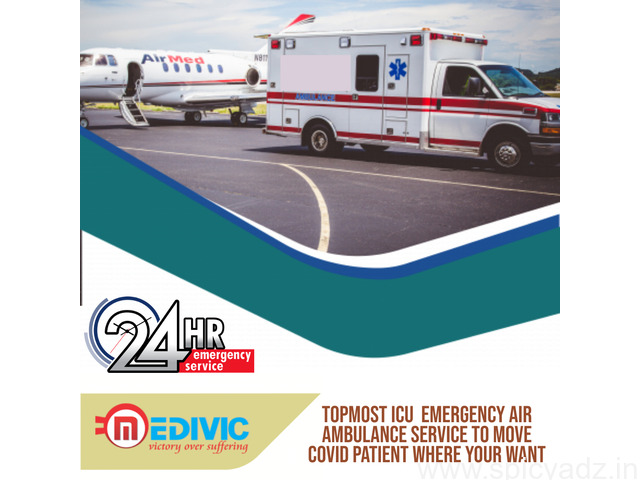 Book the Ultra High Air Ambulance in Gaya with Advanced Facilities by Medivic - 1
