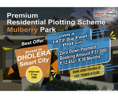 Book Premium Residential Plot Project Mulberry Park in Dholera Smart City
