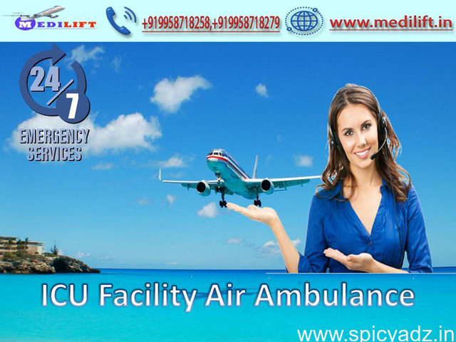 Superior and Affordable Air Ambulance Service in Patna by Medilift - 1