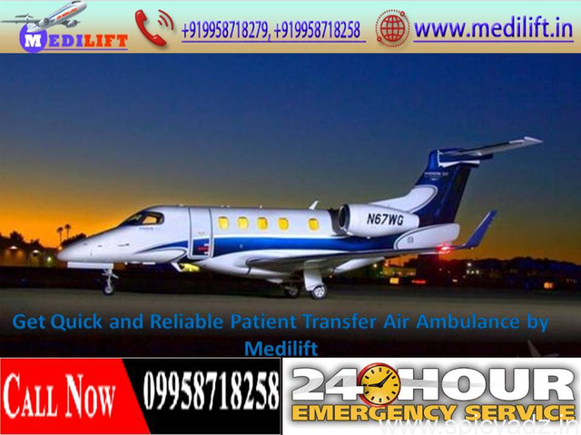 Fully Medical Supported Air Ambulance from Ranchi – Medilift - 1