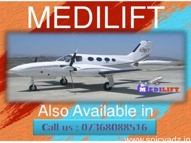 The Minimum Fare Commercial Aircraft Ambulance Patna by Medilift - 1