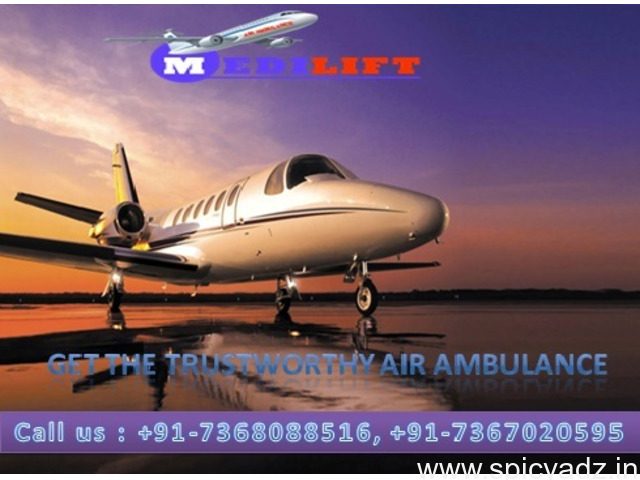 The Complete ICU Facility Medilift Air Ambulance Kolkata with Doctor - 1
