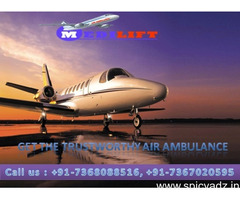 The Complete ICU Facility Medilift Air Ambulance Kolkata with Doctor