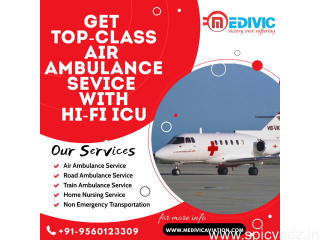 Receive Trusted Charter Air Ambulance Service in Patna by Medivic - 1