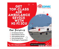Receive Trusted Charter Air Ambulance Service in Patna by Medivic