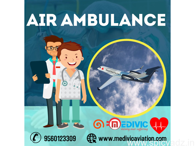 Pick Top-Raking Medivic Air Ambulance Service in Patna with Trained Medical Team - 1