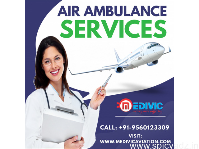 Acquire India's Popular Air Ambulance Services in Kolkata by Medivic - 1