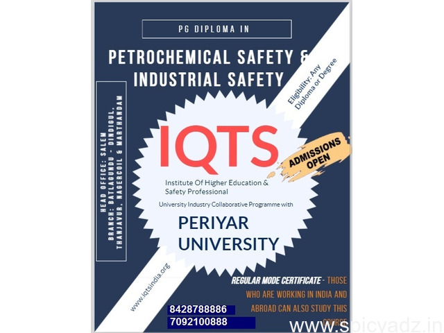 Diploma Industrial Safety Management  course in salem - 1