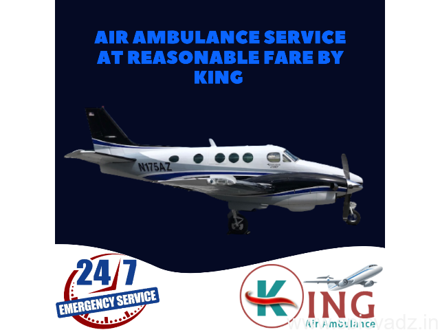 Hire the King Air Ambulance in Guwahati with Moderate Features - 1