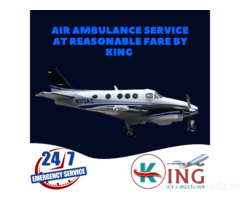 Hire the King Air Ambulance in Guwahati with Moderate Features